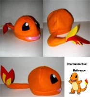 Charmander Hat by nikkiswimmer