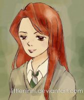 Ginny in Slytherin by LittleNinni
