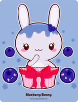 Blueberry Truffle Bunny by mAi2x-chan