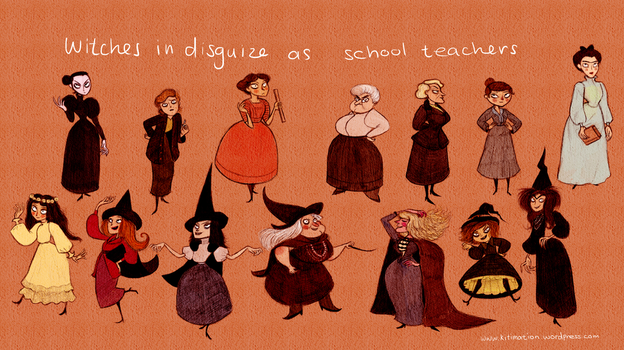 Witches and School Teachers by KathrynWilkins