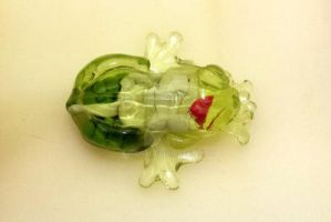 Clear glass frog by LandGart