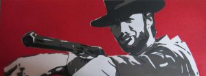 The Man With No Name - Stencil by theraineydaze