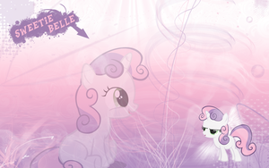 FiM: Sweetie Belle Wallpaper by M24Designs