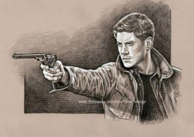 Dean Winchester study Detail by scotty309