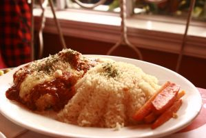 Chicken breast parmigiano by thedismantled