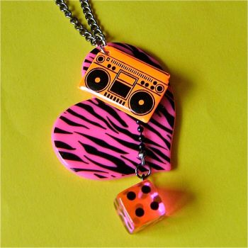 I love the 80s necklace by Quirkz