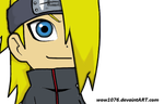 Chibi Deidara color by wow1076