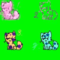 4 Cat adopts! (open) by MiriMonkey