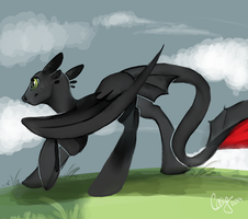 Toothless - Pony Form by CasyNuf