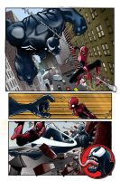 Spidey Vs  Venom 1 Flats By Staminaboy-d40xctz by FlatsNColors