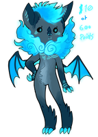 Azure Fire Bat Adopt ++Adopted++ by CoffeeBeanFox