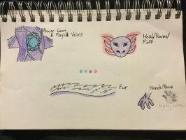 Fictional Creature Ref. Sheet 2 (Gexometu) by TinyMythicals