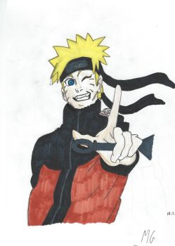 First time using Copic Markers - Naruto Uzumaki by Mgcroco