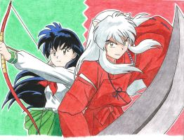 Inuyasha and Kagome by Hahc3Shadow