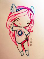 Chibi Girl (Captain America inspired) by ZN-DR