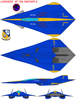 Xf-70A Panther 2 Blue Angels by bagera3005