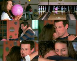 Glee: Rachel and Finn Kiss by JuanitoTheVampire