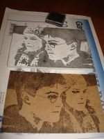 Harry Hermione Eraser Stamp by JacieNL