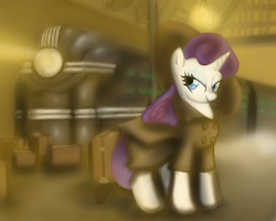 DieselPunkPonies- Rarity by gunslingerpen