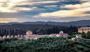background - Cemetery Siena by 8moments