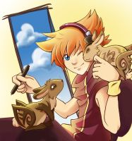 Neku and the bunnies by Neverjay