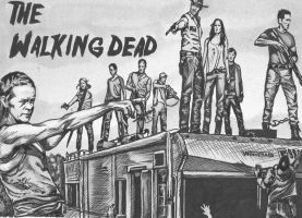 The Walking Dead tribute by dottcrudele