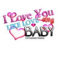 I love You Like Love Song  PNG text by CupcakeEditions22