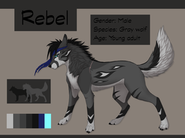 Rebel (Male Wolf) Adopt Sale!! by XTaraviaX