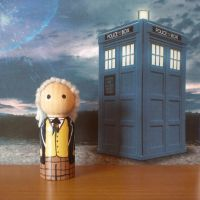 The First Doctor peg doll by jen-random