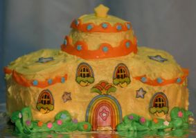 Color Castle Cake by RainbowBriteUk