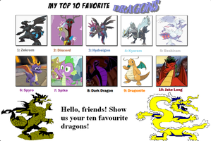 My Top 10 Favourite Dragons by TheDarkBrawler90