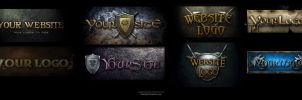 Fantasy Game Site Logos by karsten