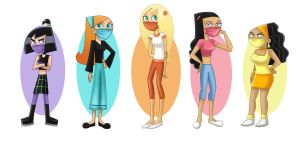 Danny Phantom Girls in Masks by Juliefan21