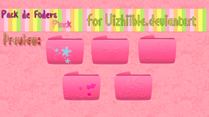 Pack Folders Pinck by: Vizhiible by vizhiible