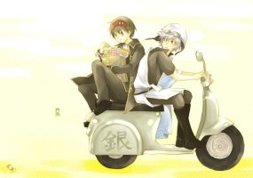 Gintama - Back seat by kim57n