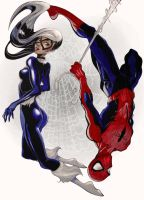 Spiderman and Black Cat by UsagiTerrorist