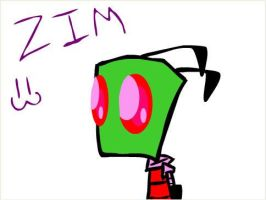 My awesome Zim drawing by Torn-apart-paper