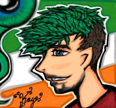 Jacksepticeye and Sam by TheSisters2