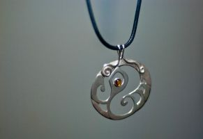 Simple silver pendant by SteveSilver925