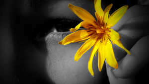 friend with flower by Pauline-graphics