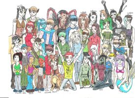 All My Characters by DarthJader11