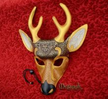 Venetian Deer Leather Mask by merimask