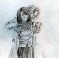 Tidus and Yuna by CinnamonSoldier