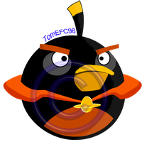 Angry Birds Black Bird Space [SUPER-HIGH-QUALITY] by TomEFC98