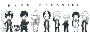 Ao no Exorcist by crino-line
