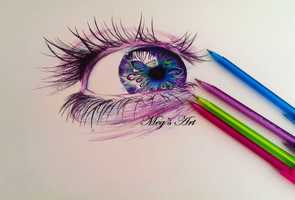Biro Pen Drawing by stardust12345
