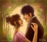 Pride and Prejudice: Elizabeth and Darcy by mseregon