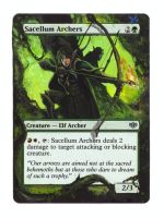 mtg altered SACELLUM ARCHERS by cerimair