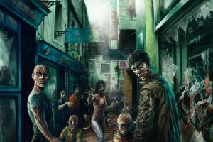 Zombies in Brighton's Lanes by JonTaylorArt