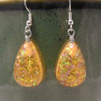 Amber Teardrop Earrings by lavadragon